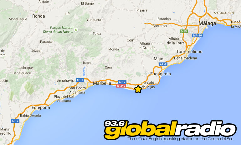 93.6 Global Radio on Fm on the Costa del Sol