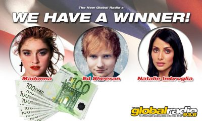 The New Global Radio's €1,000 Triple-Play has a WINNER!
