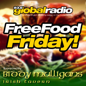 Free food Friday Competition, 93.6 Global Radio