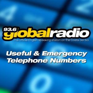 Useful & Emergency Telephone Numbers, Costa del Sol