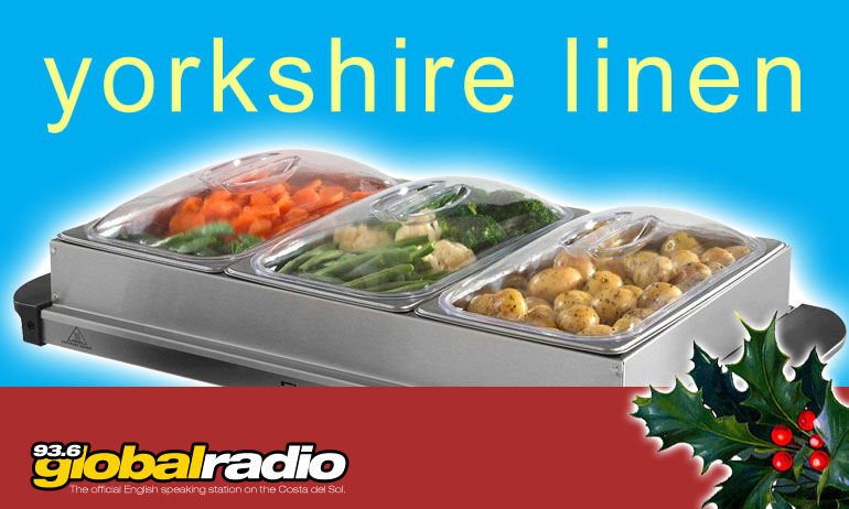 12 Days of Christmas Competition Yorkshire Linen Warehouse Spain 93.6 Global Radio Costa del Sol