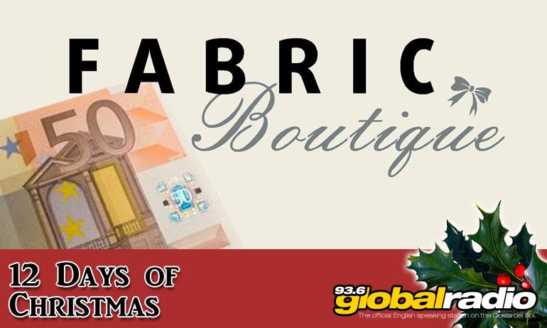 Fabric Boutique La Cala de Mijas 12 Days of Christmas Competition 93.6 Global Radio