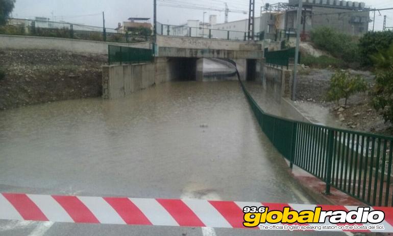 Flooding in Cartama