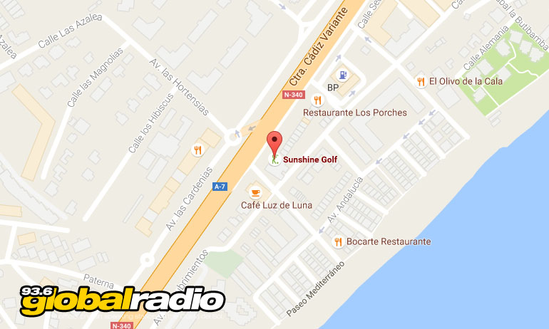 Find Sunshine Golf in La Cala de Mijas 936 Global Radio