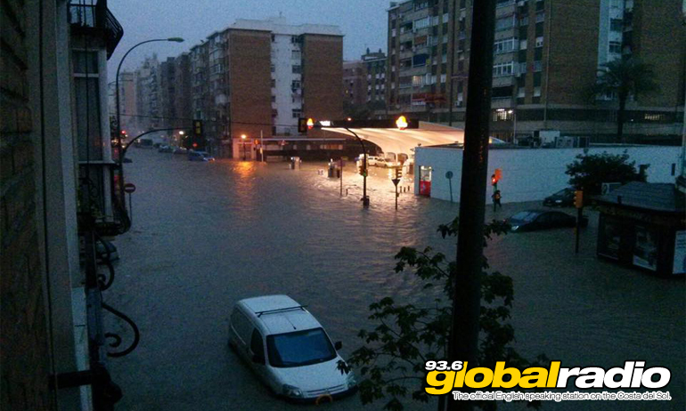 Flooding in Fuengirola. Photo by Sally Clarke