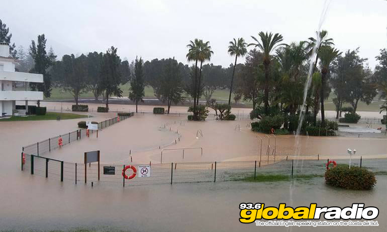 Flooding in Fuengirola. Photo by Louisa Trillo