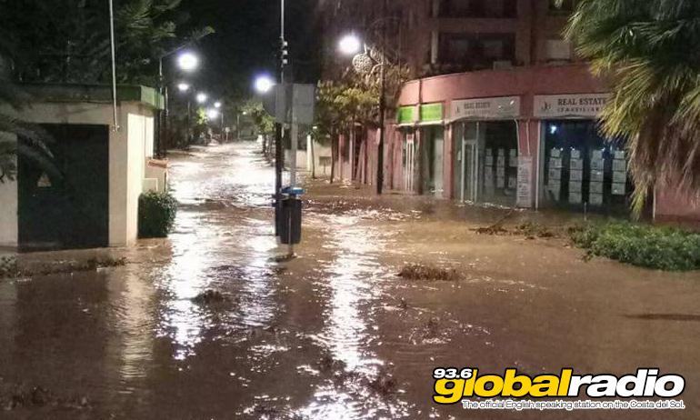 Fuengirola submerged. Photo by Louisa Trillo