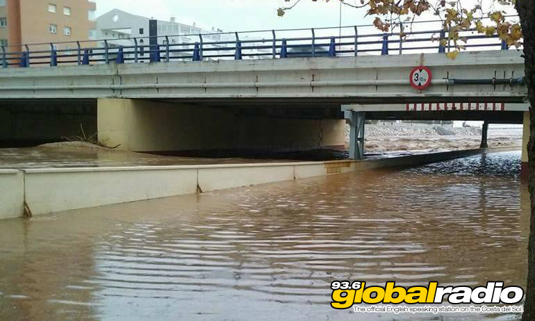 Flooding in Fuengirola, photo by Louisa Trillo