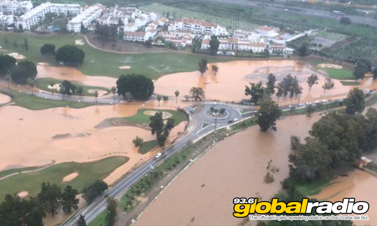 Mijas Golf his by flooding. Photo by Angel Nozal Lajo