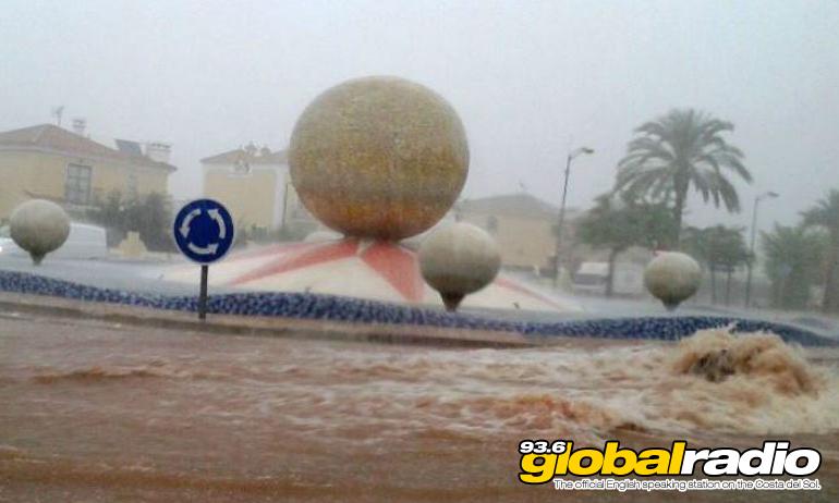 Flooding in Alhaurin De La Torre