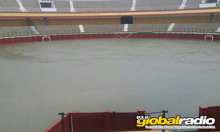Estepona Bull Ring has been flooded