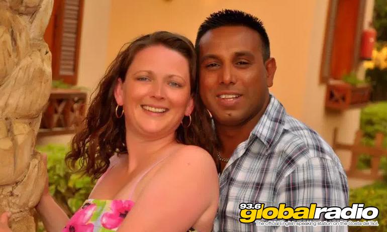 Nadeem Aslam and his wife Jayne