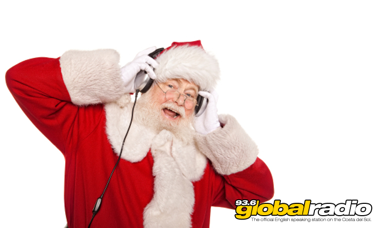 Santa enjoying 93.6 Global Radio