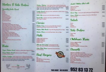Cabo Pizza Bistro, Pizza Restaurant and Take Away, Cabopino, East Marbella, Costa del Sol Menu 02