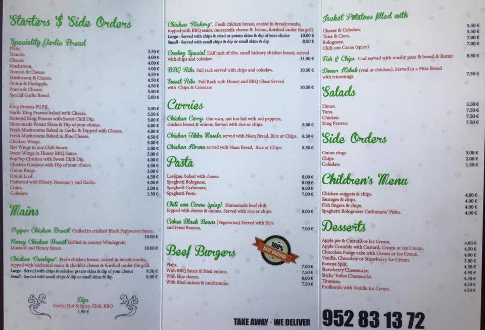 Cabo Pizza The Finest Eat In Take Away Pizza In Cabopino