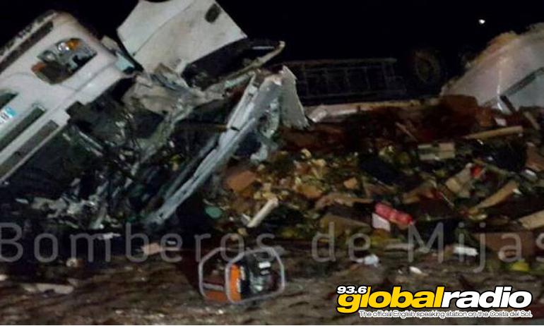 Lorry Driver Rescued After Costa Del Sol Horror Crash