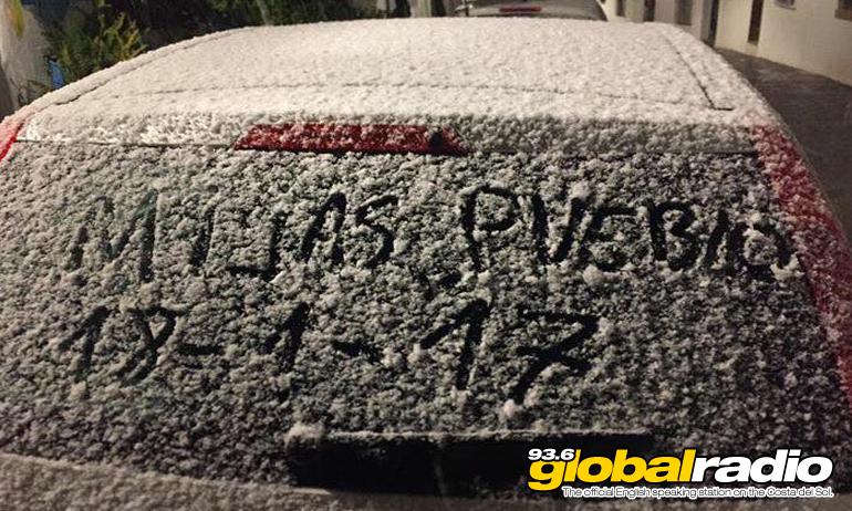 Snow in Mijas