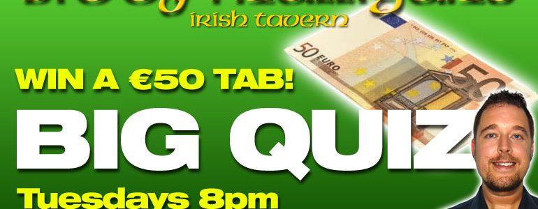 Pub Quiz Night at Biddy Mulligan's Irish Bar, La Cala de Mijas