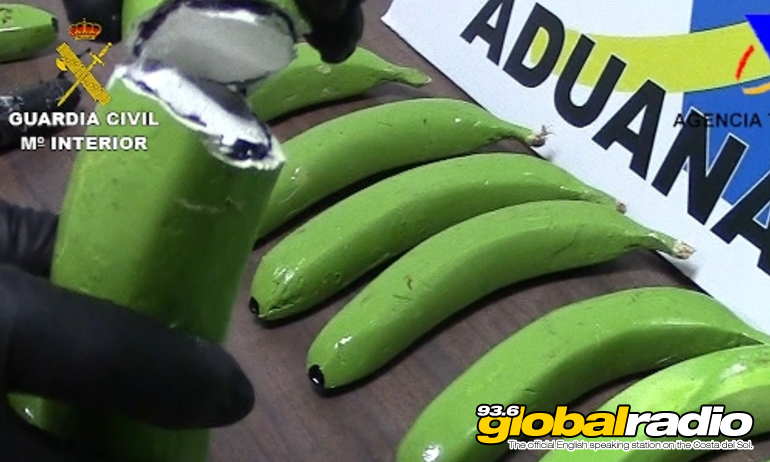 Guardia Civil Seize Cocaine Hidden In Bananas