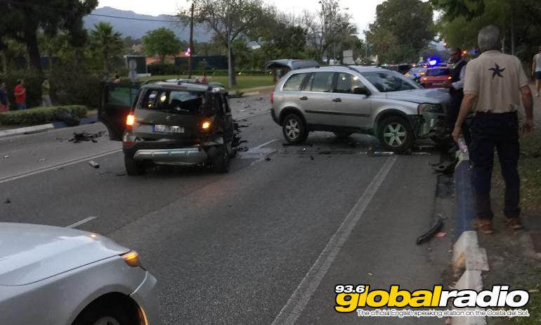 Car Ploughs Into Pedestrians In front Of Puerto Banus Club