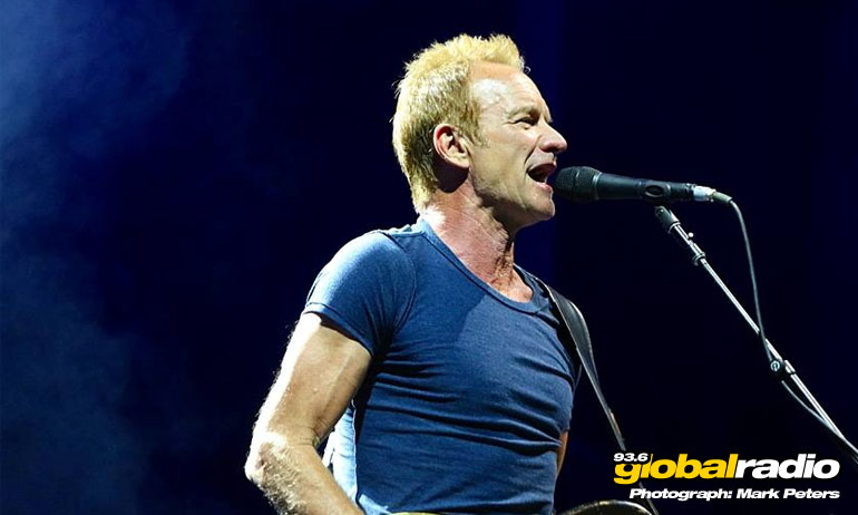 Sting at Fuengirola, Summer 2017. Mark Peters, 93.6 Global Radio.