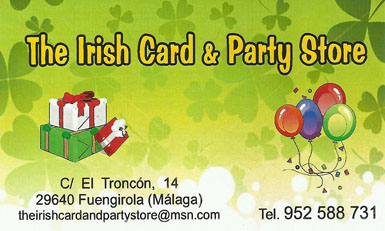 The Irish Card & Party Store, Fuengirola - 936 Global Radio