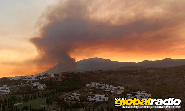 Estepona Fire Rages On As Man Is Arrested