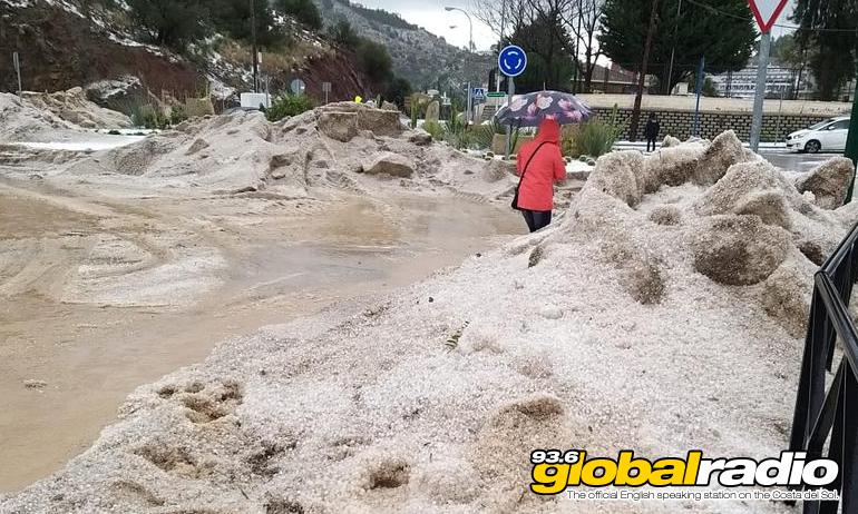 Malaga Car Hail Street Blocked Jan 2020
