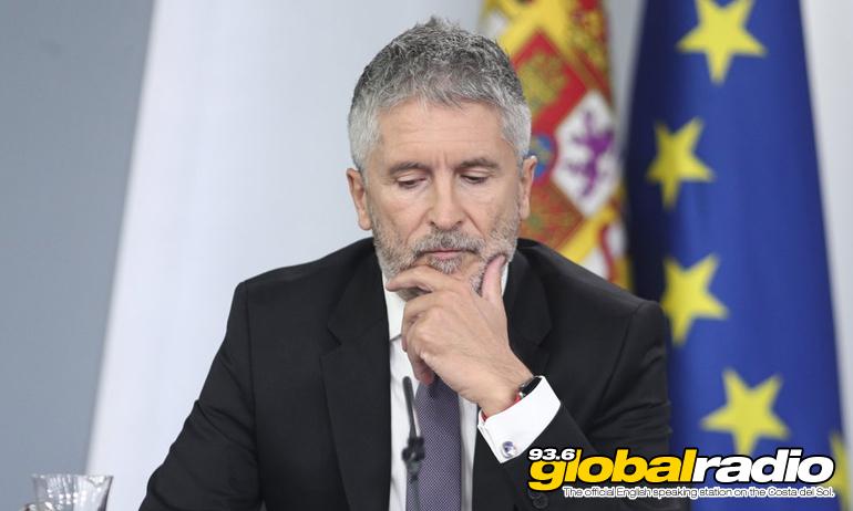 Interior Minister Fernando Grande Marlaska