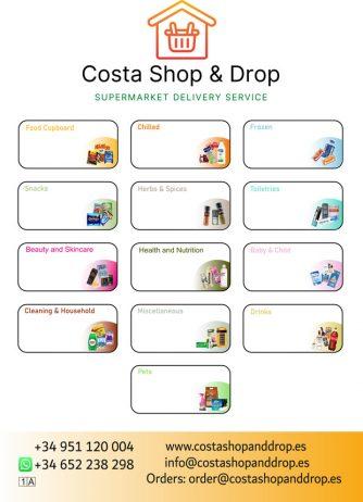 Costa Shop & Drop, Supermarket Delivery Service