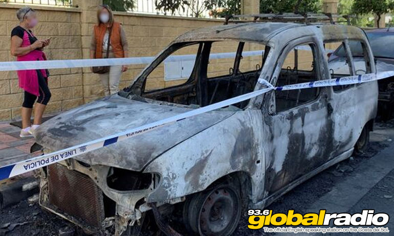 Fifteen Cars Burn In Fuengirola
