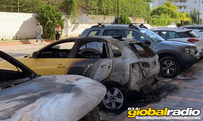 Fuengirola Burned Out Car