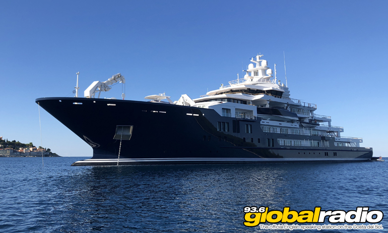 Super Yacht Sails Into Malaga