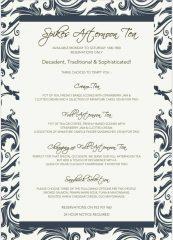 Spikes Restaurant, Miraflores Golf Club, Afternoon Tea Menu