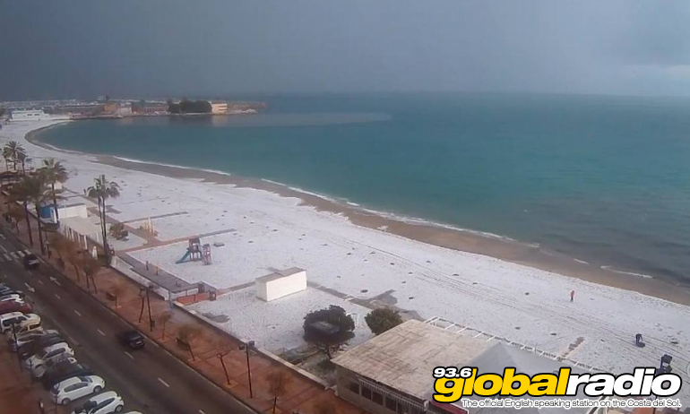 Fuengirola Beach Hail January 2021