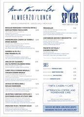 Spikes Restaurant, Miraflores Golf Club, Lunch Menu