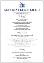 Spikes Restaurant, Miraflores Golf Club, Sunday Lunch Menu